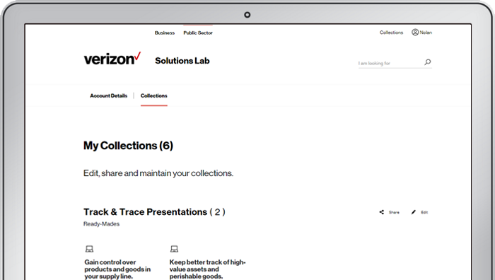 Screenshot of Solutions Lab